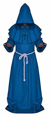 Cos2be Costume For The Medieval Monks BLUE Size M