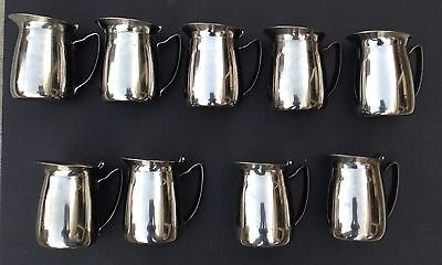9 Vollrath Stainless Steel Hospital Water Pitchers 46001 Japan