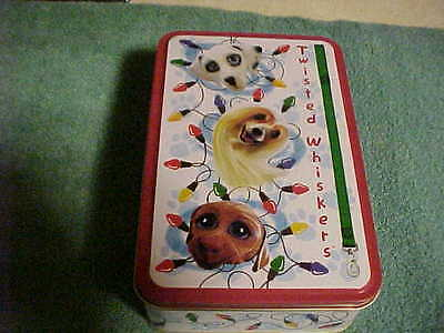 NEW TWISTED WHISKERS dog 3 pc ornament set in gift tin  by Carlton Cards