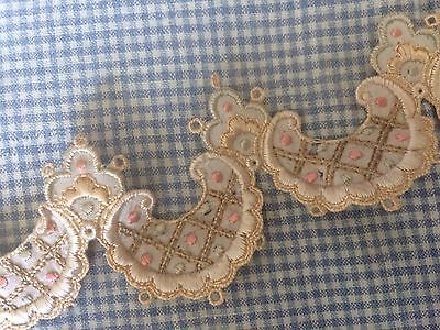 Antique Silk Embroidered Trim Hats Dolls Salvage Costume Hat Altered Art #A