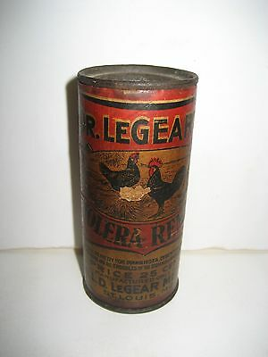 Vintage, Veterinary Medicine, Dr. LeGear's Cholera Remedy Tin: St. Louis