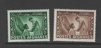 AFGHANISTAN 1958 40th INDEPENDENCE DAY Both Stamps MINT NEVER HINGED