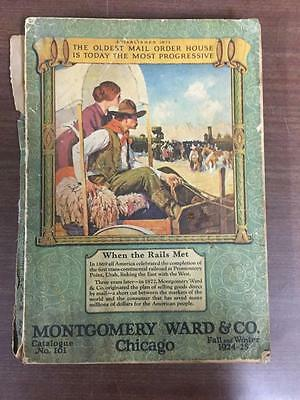 1924 fall winter MONTGOMERY WARDS vintage CATALOG