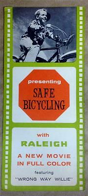 original 1960's vintage RALEIGH Safety pamphlet brochure Wrong Way Willie