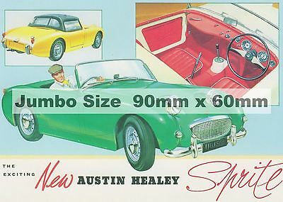 Sports  Cars -   Vintage  Adverts  -  Fridge Magnets   -    90mm  x  60mm