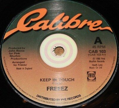 "FREEEZ * KEEP IN TOUCH * Classic Soul Jazz Funk Boogie 7"" Vinyl"