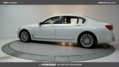 2017 BMW 7-Series 740i 740i 7 Series New 4 dr Sedan Automatic Gasoline 3.0L STRAIGHT 6 Cyl Mineral Whit
