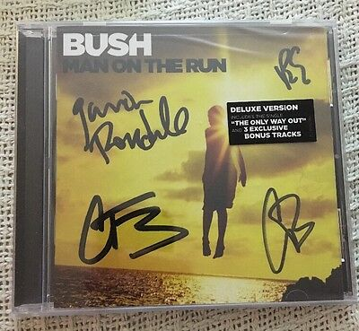 SIGNED Bush CD Autographed by the Band - The Run - Gavin Rossdale