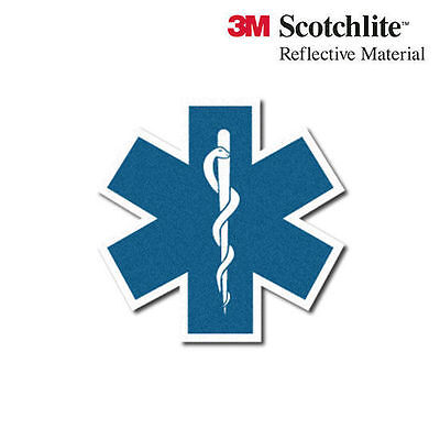 3M Reflective Star of Life Ambulance Decal - 10""