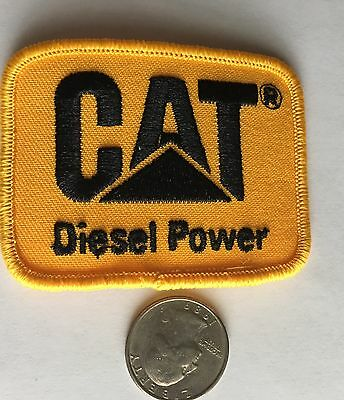 """Cat*caterpillar Diesel Power*embroidered Iron On Patch*3"""" X 2 1/4""""*"""