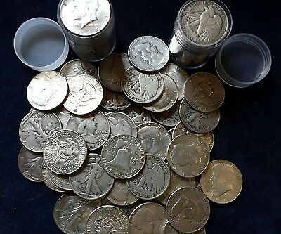 $10 Face Value Half Dollars 90% Silver 20-Coin Roll (Circulated)