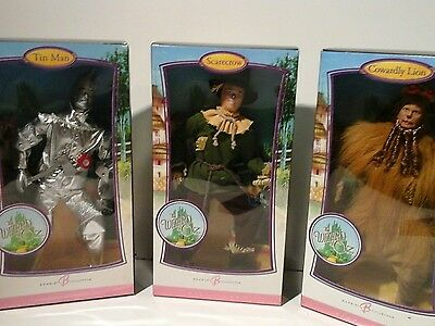 Tin Man Scarecrow Cowardly Lion Barbie Pink Label Wizard Of Oz