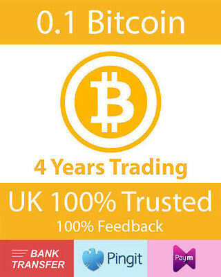 Bitcoin 0.1 BTC UK Seller, Formally bluey1979, Paym, Pingit, Bank Transfer