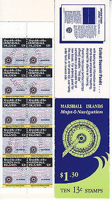 Marshall Is 1984 $1.30 Maps (10x13c) Booklet Used (CTO) Scott pane 39a