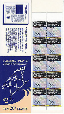 Marshall Is 1984 $2.00 Maps (10x20c) Booklet UM Scott pane 41a Cat $10.00