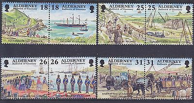 Alderney. 1997 Garrison Island (1st Issue) Set UM SGA102-9 Cat £6.00