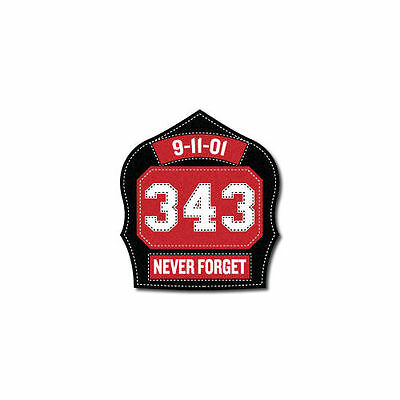 "2"" 3M Scotchlite Reflective Fire Helmet Decal- 9/11 Memorial Shield 343 Remember"