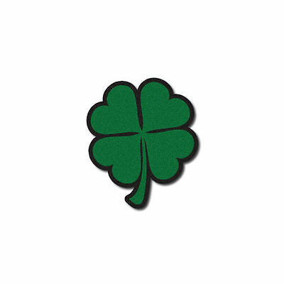 FIREFIGHTER HELMET DECALS FIRE HELMET STICKER- Reflective Green Shamrock
