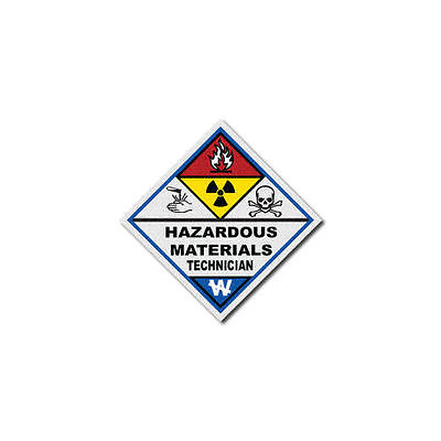 Firefighter Helmet Decals - Single - Fire Sticker  - Haz Mat Technician Diamond