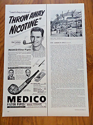 1951 Medico Pipes Ad  New York Yankee Jerry Coleman