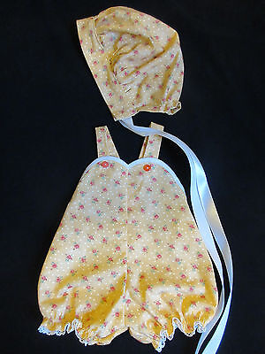 "Romper & Bonnet Set For Vintage 20"" American Character Toodles Baby Doll"
