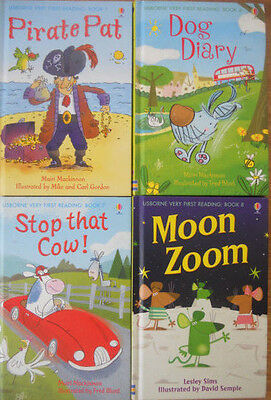 Usborne Very First Reading Bulk Book Pack - 4 Hc Learn To Read Books