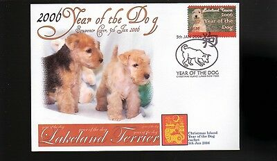 Lakeland Terrier 2006 C/i Year Of The Dog Stamp Cover 1