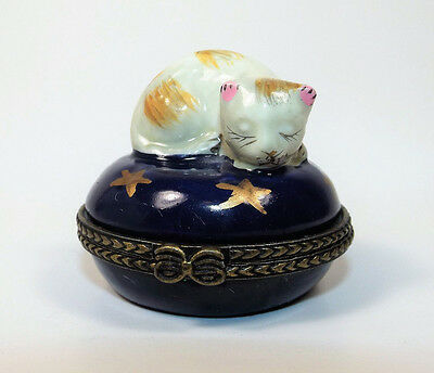 Sleeping Kitty Trinket Box