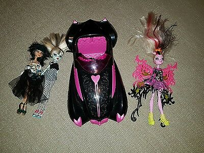 monster high dolls & car