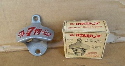 Vintage 1940's 7 UP Soda pop Advertising Sign Bottle Opener 7up STARR X