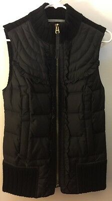 Juicy Couture Down Front & Cashmere Mix Knitted Black Vest - SZ S Very Cute
