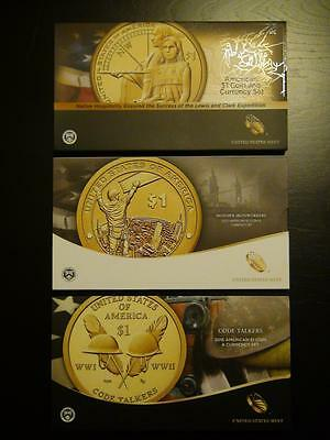 2014 2015 2016 Native American Dollar Coin & Currency Sets Enhanced Uncirculated