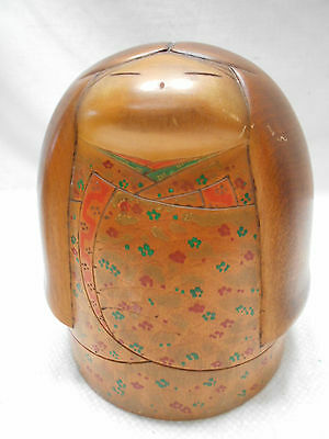 Kokeshi Creative Style Wooden Japanese Doll Vintage SOLID ROUND #437