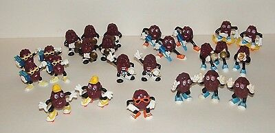 Vintage 80's California Raisins Figures Lot of 25 by Applause Inc. and Calrab