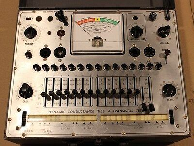 EICO 667 Vacuum Tube Tester / Checker With Manual. In Nice Working Condition.