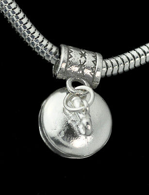 New European bead charm authentic 925 Sterling Silver Curling 3D Dangle Jewelry