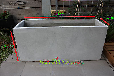 Garden Pots: BATCH OF 6 x 100cm Long Light Weight Concrete Planter Box