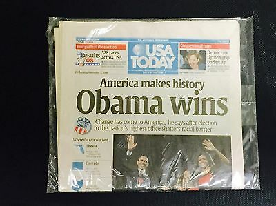 2008 USA Today Newspaper Barack Obama Elected President (Never Opened)