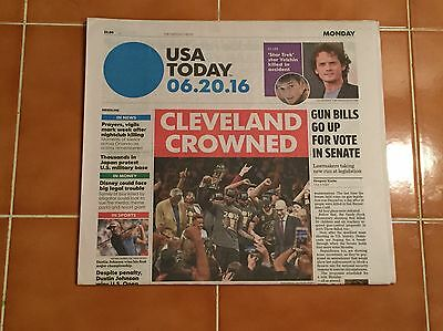 2016 USA Today Newspaper Cleveland Cavaliers Champions Lebron James