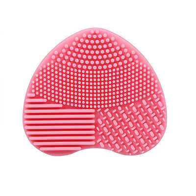 Silicone Makeup Brush Cleansing Pad Heart Shape Makeup Brush Cleansing Tool