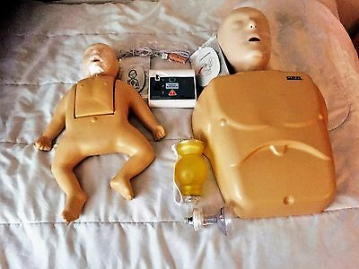 Nasco  CPR Prompt:  Adult CPR & Infant CPR Manikinss  AED   Lightly used!