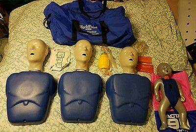 CPR Prompt 3 Adult Manikins for training w/ Bag & Infant *EXTRA ACCESSORIES*