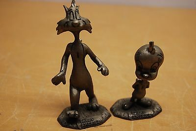 """Sylvester & Tweety Pewter Figures Great America 3 1/2"""" Tall"""