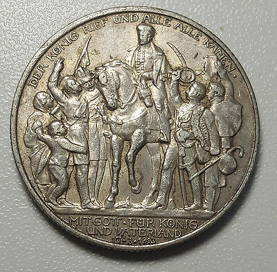 1913 A German States PRUSSIA 2 Mark KM# 532 Silver Coin gEF