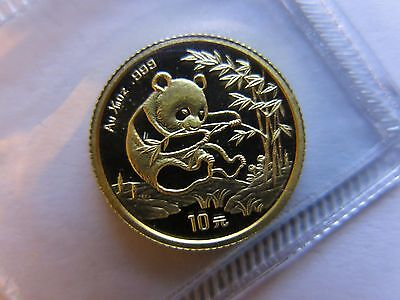 1994 1/10 oz Gold Panda Small Date 10 yuan China Chinese Coin Sealed