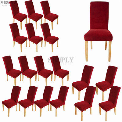 Stretch Dining Room Seat Covers Chair Cover Removable Protector Slipcover Wine