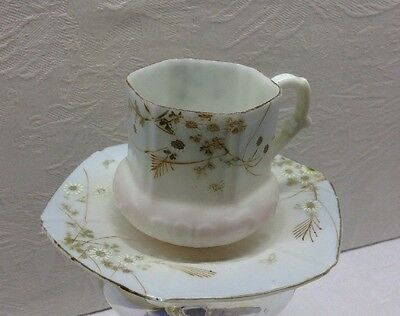 Antique Porcelain Demitasse Cup And Saucer - Hand Painted, Unmarked, Translucent