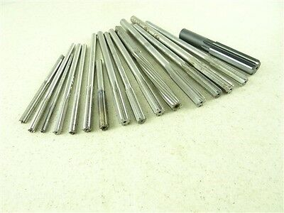 "Lot Of 16 Hss Chucking Reamers 7/32"" To 27/32"" Morse"