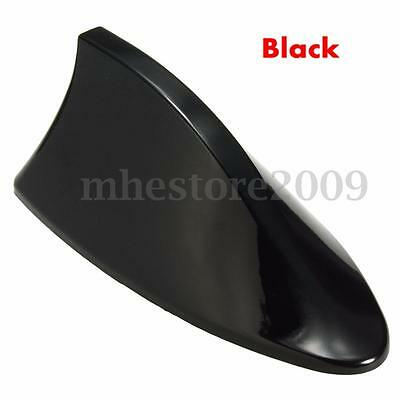 Universal ABS Car Roof Shark Fin Shape Antenna Radio Signal Aerials AM//FM Black