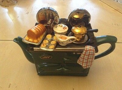 Boxed Swineside Teapottery Lge Novelty Teapot Sunday Roast Dinner Great Condtion